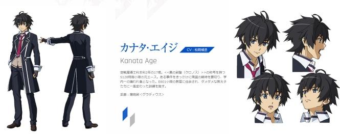 Kanata Edge, Voice Actor: Matsuoka Yoshitsugu (of 'Sword Art Online' fame having voiced the protagonist Kirito)