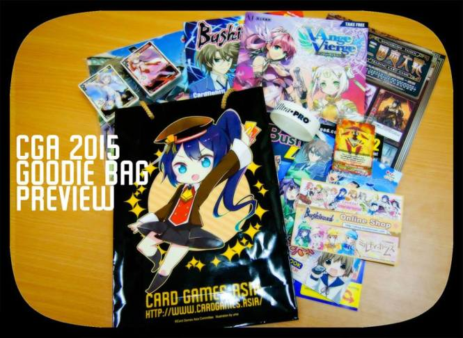 Contents of the Goodie Bag (CGA Official Site)